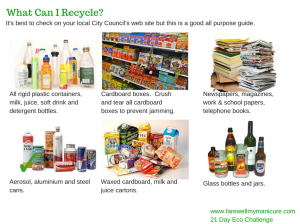 Recycling printable