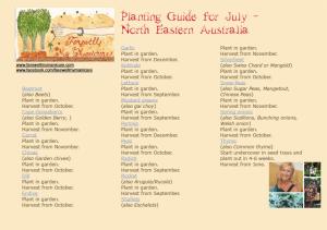 Planting guide july snapshot